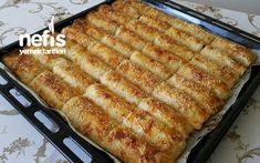 Baklava Yufkasıyla Patatesli Börek French Toast, Pizza, Food And Drink, Vegetables, Cooking, Breakfast, Recipes, Chop Saw, Kitchens