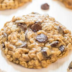 I have so many oatmeal cookie recipes. And chocolate chip cookie recipes. But didn't have 'my perfect' good old-fashioned oatmeal chocolate chip cookie recipe until now. These are the best oatmeal chocolate chip cookies I've had and I'm super picky about oatmeal cookies. Oatmeal cookies, when done right – and by that I mean soft, chewy, … Oatmeal Chocolate Chip Cookie Recipe, Best Oatmeal Cookies, Soft Cookie Recipe, Oatmeal Cookie Recipes, Raisin Cookie Recipe, Oatmeal Chocolate Chips, Choco Chip Cookies, Oatmeal Dessert, Giant Cookies