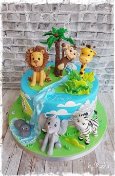 Happy jungle cake by Sweet cakes by Masha