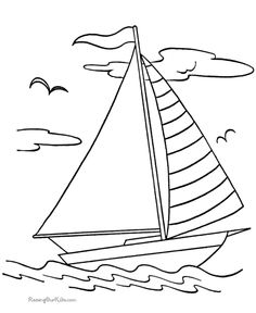 Boats to print and color 016