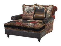 Donnelly Upscale Western Chaise Western Accent Chairs