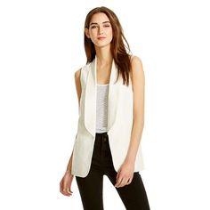 Women's Long Tuxedo Vest White - Mossimo™ - Gallery White