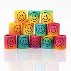 12 x Mini Smiley Springs - Party Bag Fillers