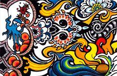 DeviantArt Endless Doodle Part 23 by Nissa Askew, via Behance
