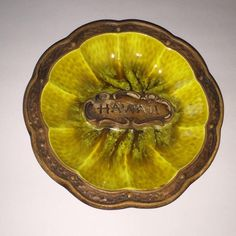Vintage Treasure Craft Of Hawaii Kahului Maui Ashtray Rare Tiki Bar Ash Tray