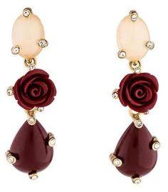 Margot McKinney Jewelry Hearts Desire Rose de France Amethyst Earrings SXEEGAPwP