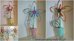 Kwiaty z rolek po papierze / Zainspiruj Malucha