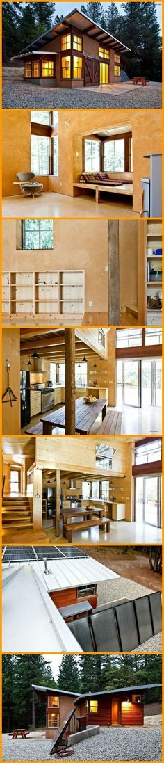 This home is a great example of sustainability and off-grid living! View the complete album at theownerbuilderne... | Tiny Homes #HomeEnergyEfficiency