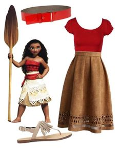 Moana in the summer by caramarie40 on Polyvore featuring polyvore, fashion, style, Rebecca Minkoff, COSTUME NATIONAL, Chicwish, Disney and clothing