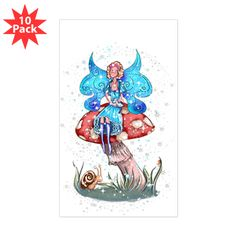 Sticker www.teeliesfairygarden.com This high quality bumper sticker is printed on durable 4mil vinyl with premium inks that resist the sun and elements, so your message will last for the long haul. #fairysticker