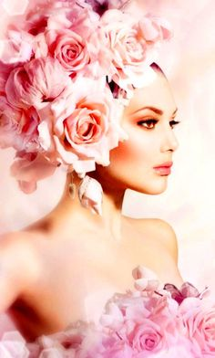 flowers in her hair Love Flowers, Flowers In Hair, Beautiful Flowers, Pretty In Pink, Rosa Pink, Beauty And Fashion, Foto Art, Everything Pink, Floral Fashion