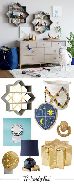 Adorn any kids room, nursery or shared room with Genevieve Gorder for Nod home decor that's elegant yet imaginative.