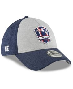 190bd8190fc New Era New England Patriots On Field Sideline Road 39THIRTY Stretch Fitted  Cap - Blue L XL