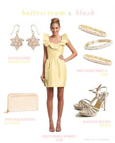 Pale Yellow Bridesmaids Dress