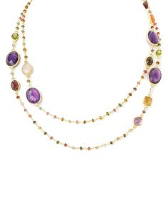 """Rivka Friedman """"Felix and Lola"""" 14K Over Silver Gemstone 40in Necklace is on Rue. Shop it now."""