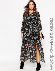 ASOS CURVE Maxi Dress in Moon & Star Print