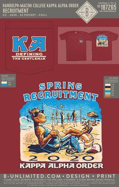 Kappa Alpha Order Recruitment Shirt | Fraternity Event | Greek Event #kappaalphaorder #kappaalpha #theorder #ka #recruitment Kappa Alpha Order, Pi Kappa Alpha, Sigma Chi, Tau Gamma, Theta Chi, Fraternity Rush Shirts, Campbell University, Bid Day Shirts, Volleyball Designs