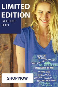 Love Knitting? Check out this awesome Knitting Shirt. Makes for a perfect gift too! Not sold in stores and only 2 days left for FREE SHIPPING! Grab yours or gift it to a friend, you will both love it.