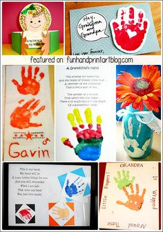 I am always so amazed at all the fabulous ideas out there! Here are some fabulous ideas for Grandparent's Day: Source: Life is Sweet Another idea I found via Pinterest, this Handprint Card melts my heart! The little handprint opens to expose a photo of the child and a precious little saying. Source: A Bird …