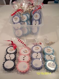 craft fair items | More like this: snowman , mints and tarts .