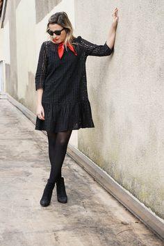 #look #pimkie #pimkiexme #robe #bandana #rougeetnoir