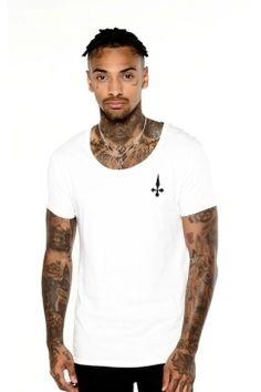 Judas Sinned - Chosen Few Crystal Cross T-Shirt - White