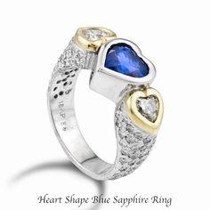 3 Stone Diamond Ring, 3 Stone Rings, Peach Sapphire, Diamond Alternatives, Heart Shaped Diamond, Rare Gemstones, Jewelries, Popular Pins, Anniversary Rings