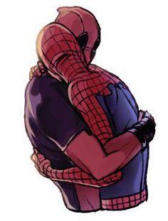 Deadpool and Spiderman Fan Art by sofia-novak on Tumblr