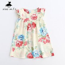 kids summer cotton dresses for toddler girls 2017 flutter sleeve bohemian style floral dress Childrens' Clothes MFS-612576 //FREE Shipping Worldwide //