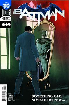 COMIC BOOK: Batman # 44 (Vol III). PUBLISHER: DC Comics. WRITER(S) Tom King. ARTIST: Mikel Janin, Joelle Jones. COVER ARTIST: Mikel Janin. ORIGINAL RELEASE DATE: 4 / 4 / 2018. COVER PRICE: $2.99. RATING: Teen +.