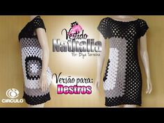"""Vestido de Crochê Encanto """"M"""" 1ª Parte Squares - YouTube"""