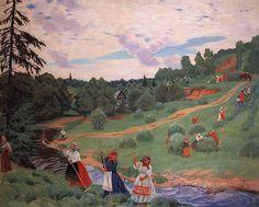 Boris Kustodiev - Haymaking