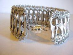 Silver Pull Tab Bracelet. $15.00, via Etsy.