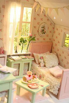 PASTEL COTTAGE Diorama by Keera, via Flickr