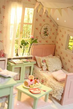 PASTEL COTTAGE Diorama by Keera, via Flickr
