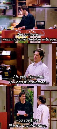 Will & Grace...my overly planning skills