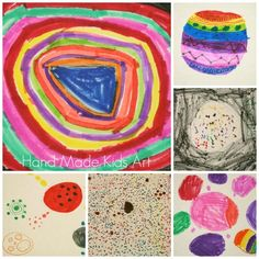 Creative drawing activity based on the book, The Dot. #handmadekidsart #drawing #kidsart
