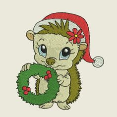 Christmas time hedgehog 07 | Spookies Treasures