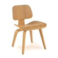 Plywood Modern Classic Dining Chair with Gently Curved Legs #EamesChair