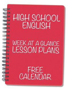 every day for an entire school year already planned out. Yes, this exists! FREE calendar for high school English teachers.lesson, every day for an entire school year already planned out. Yes, this exists! FREE calendar for high school English teachers. Homeschool High School, High School Classroom, English Classroom, English Teachers, Teaching English, Homeschooling, High School Teachers, High School Reading, Ela Classroom