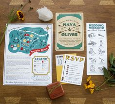 these are really pretty camp invites and I think they would be easy to recreate!