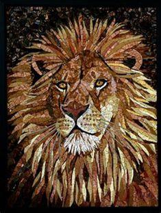 Sequin Art Lion - Her Crochet