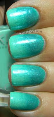 Neverland Nail Blog: Teal Shimmer Gradient!  Just thinking about my future website and all the colours that make me feel good!