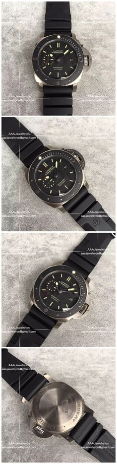 Replica Panerai PAM 389 Luminor Submersible 1950 Amagnetic 3 Days Ceramic Bezel Titanium 47 mm