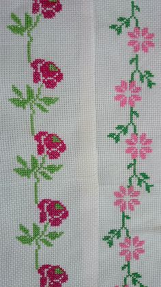 Discover thousands of images about Yaneth Flórez Mini Cross Stitch, Cross Stitch Needles, Simple Cross Stitch, Cross Stitch Rose, Cross Stitch Flowers, Silk Ribbon Embroidery, Cross Stitch Embroidery, Embroidery Patterns, Hand Embroidery