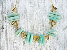 Items I Love by on Etsy Geometric Necklace, Triangles, Turquoise Necklace, Bones, Jewlery, Jewelry Making, Bling, Inspire, Etsy Shop