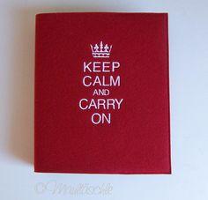 Ringbuch Keep Calm and carry on Filz von Maultäschle auf DaWanda.com