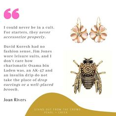 Forever evolving, experimenting, growing and choosing different things to make you happier, more joyful, generous, adventurous and interesting. Freewill baby, use it..   . . #earrings #brooch #freewill #stylish #joanrivers #quote #inspiration #motiva