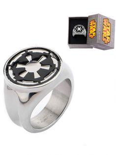 Stainless Steel Star Wars Galactic Empire Symbol Ring by Inox Jewelry #InkedShop #ring #StarWars #Empire #jewelry #geekchic
