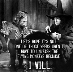 Don't make me release the flying monkeys.